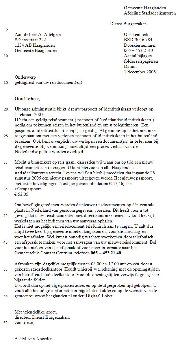 Voorbeeld 2 | Schrijfwijzer.nl