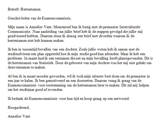 goede afsluiting brief Voorbeeld 1 | Schrijfwijzer.nl