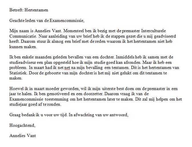 Voorbeeld 1 | Schrijfwijzer.nl